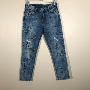 Lucky Brand Sienna Slim Boyfriend Floral Jeans